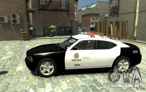 Dodge Charger LAPD V1.6 para GTA 4 esquerda vista