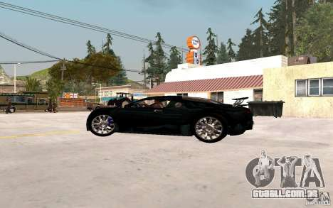 Bugatti Veyron para GTA San Andreas traseira esquerda vista