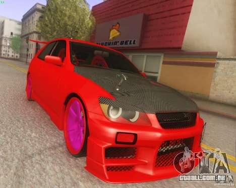 Toyota Altezza Drift Style v4.0 Final para GTA San Andreas vista traseira