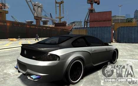 BMW M6 Tuning para GTA 4 vista direita