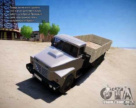 KrAZ 250 v 1.0 para GTA 4 esquerda vista