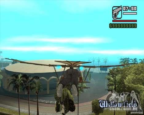Máquina voadora de Leonardo da Vinci para GTA San Andreas segunda tela