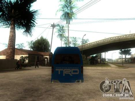 Toyota Commuter VIP Van para GTA San Andreas traseira esquerda vista
