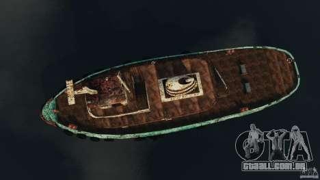 Realistic Rusty Tugboat para GTA 4 vista direita