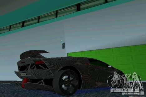 Lamborghini Sesto Elemento para GTA Vice City vista direita