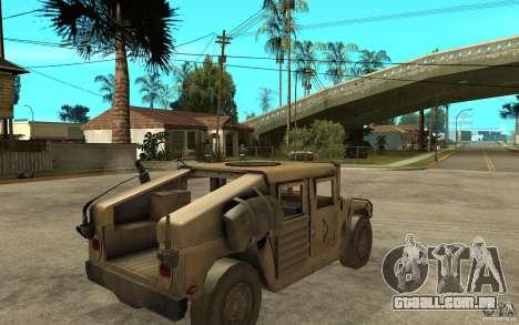 Hummer H1 War Edition para GTA San Andreas vista direita