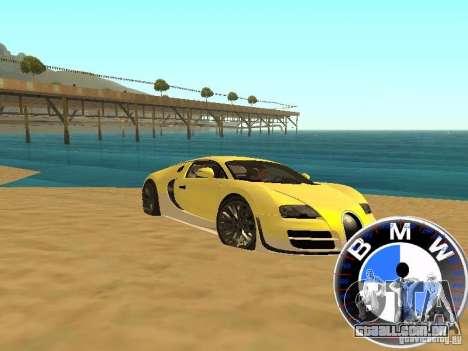 BMW velocímetro para GTA San Andreas por diante tela