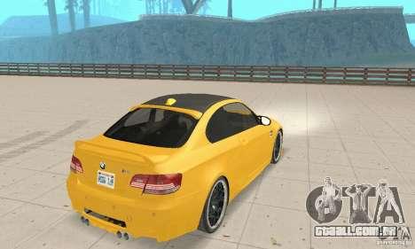 BMW M3 2008 Hamann v1.2 para GTA San Andreas vista direita