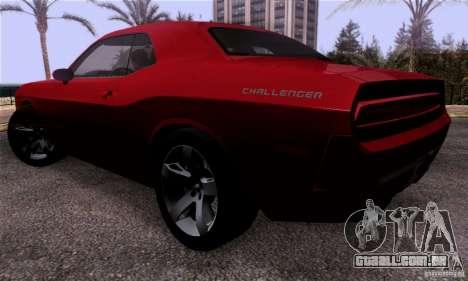 Dodge Challenger SRT8 para GTA San Andreas traseira esquerda vista