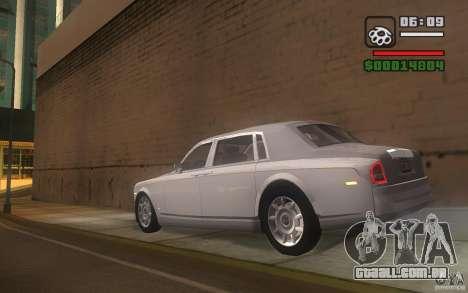 Rolls-Royce Phantom EWB para GTA San Andreas traseira esquerda vista