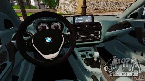 BMW 135i M-Power 2013 para GTA 4 vista de volta