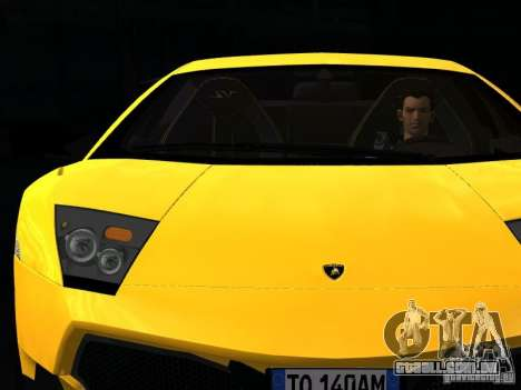 Lamborghini Murcielago LP670-4 sv para GTA San Andreas vista inferior