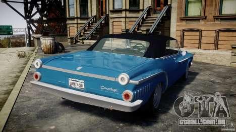 Dodge Dart 440 1962 para GTA 4 traseira esquerda vista