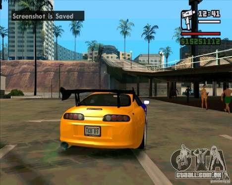 Toyota Supra Drift para GTA San Andreas traseira esquerda vista