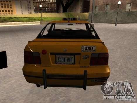 Táxi de GTA IV para GTA San Andreas traseira esquerda vista