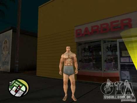 Cj branco para GTA San Andreas quinto tela