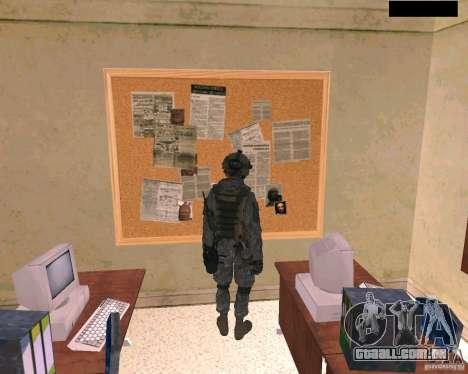 Pele do soldado do Cod MW 2 para GTA San Andreas por diante tela