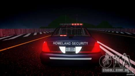 Ford Crown Victoria Homeland Security [ELS] para GTA 4 vista superior