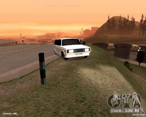 VAZ 2104 para vista lateral GTA San Andreas