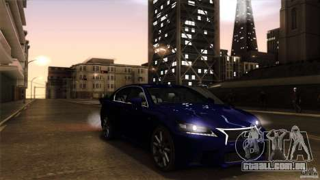 Lexus GS350F Sport 2013 para GTA San Andreas vista direita