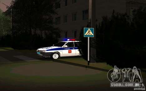 Vaz 21099, polícia para GTA San Andreas vista direita