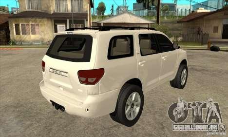Toyota Sequoia para GTA San Andreas vista direita