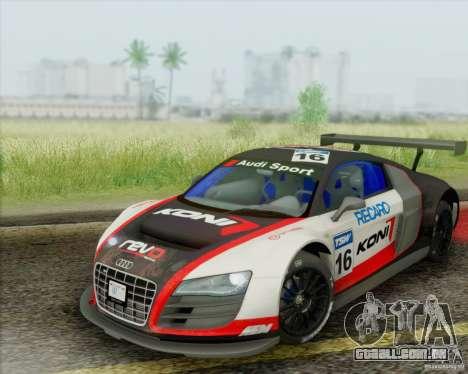 Audi R8 LMS GT3 para vista lateral GTA San Andreas