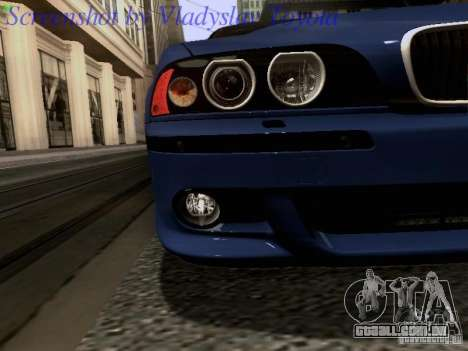 BMW E39 M5 2004 para GTA San Andreas interior