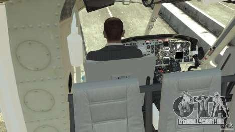 NYPD Bell 412 EP para GTA 4 vista superior