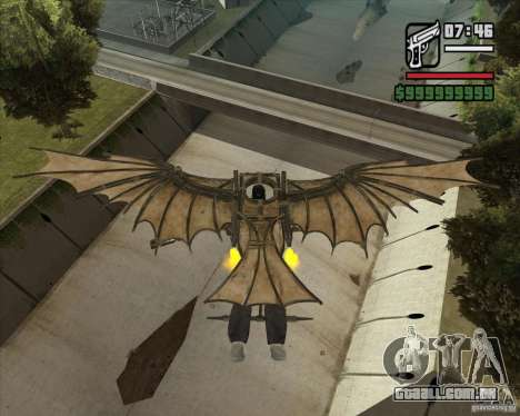 Máquina voadora de Leonardo da Vinci para GTA San Andreas