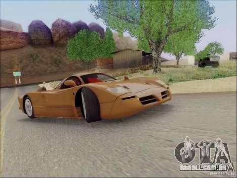 Nissan R390 Road Car v1.0 para GTA San Andreas vista traseira