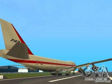Boeing 747-100 para GTA San Andreas vista direita