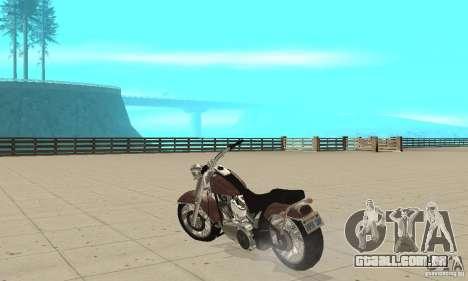 GTAIV Bobber para GTA San Andreas traseira esquerda vista