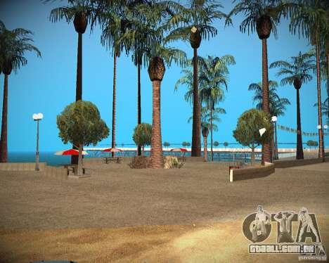 New textures beach of Santa Maria para GTA San Andreas terceira tela