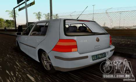 Volkswagen Golf 4 1.6 para GTA San Andreas esquerda vista