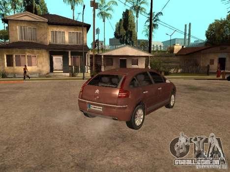 Citroen C4 para GTA San Andreas esquerda vista