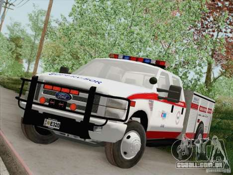Ford F-350 AMR Supervisor para GTA San Andreas vista inferior