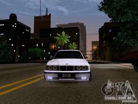 BMW M5 E34 Stance para GTA San Andreas vista interior