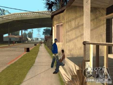 Você pode sentar, fumar, beber uísque, vômitos,  para GTA San Andreas