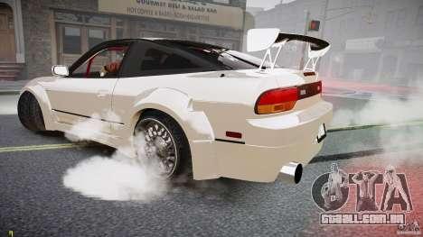 Nissan Sileighty para GTA 4 vista de volta