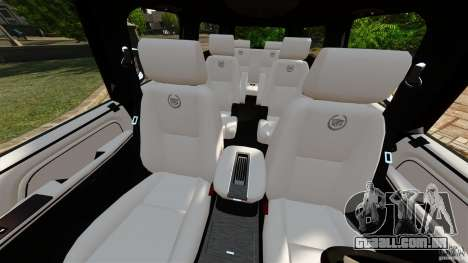 Cadillac Escalade ESV 2012 para GTA 4 vista interior