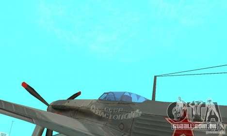 O yak-9 de libré, Sevastopol para GTA San Andreas vista traseira