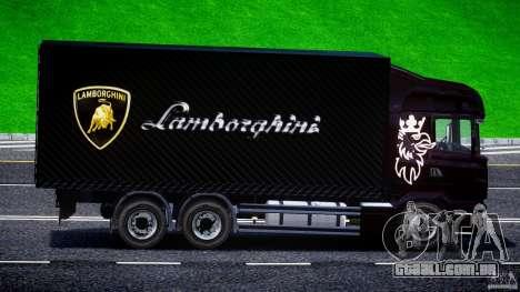 Scania R580 Tandem para GTA 4 vista de volta