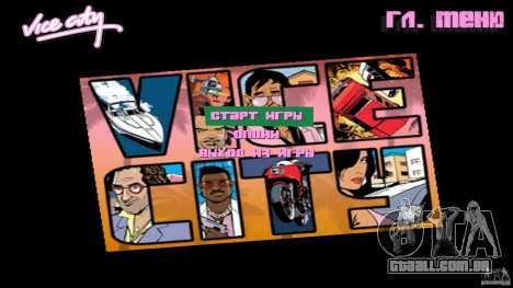 Menue Mod Beta para GTA Vice City