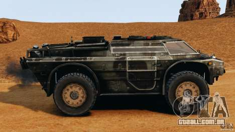 Armored Security Vehicle para GTA 4 esquerda vista