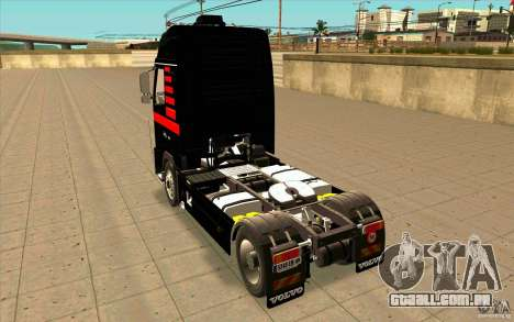 Volvo FH16 Globetrotter MAMMOET para GTA San Andreas traseira esquerda vista