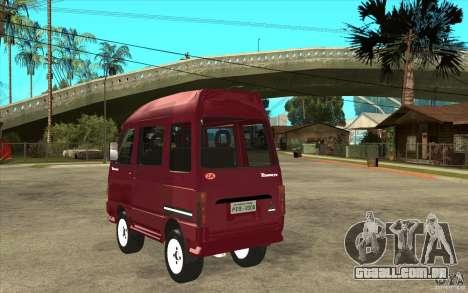 KIA Towner para GTA San Andreas traseira esquerda vista