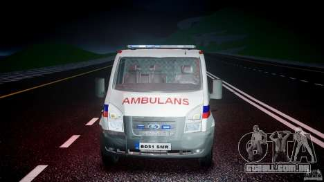 Ford Transit Polish Ambulance [ELS] para GTA 4 vista lateral