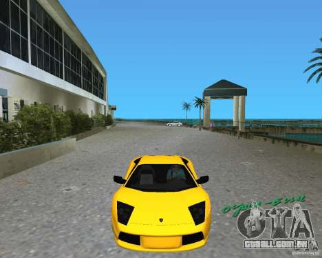 2005 Lamborghini Murcielago para GTA Vice City deixou vista