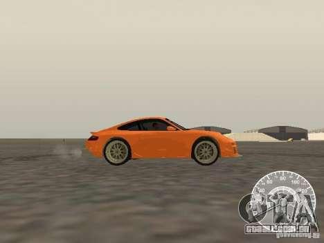 Porsche 911 GT3 Style Tuning para GTA San Andreas esquerda vista